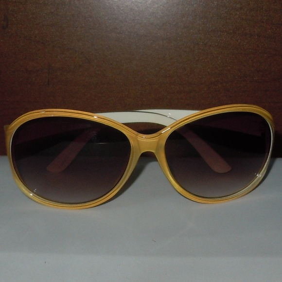110a8ff6551c bamfshades Accessories - Yellow and White Rounded Shield Sunglasses
